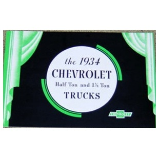 1934 Chevrolet Truck Sales Brochure